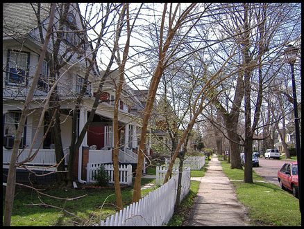 A typical neighborhood in South Bend, Indiana.